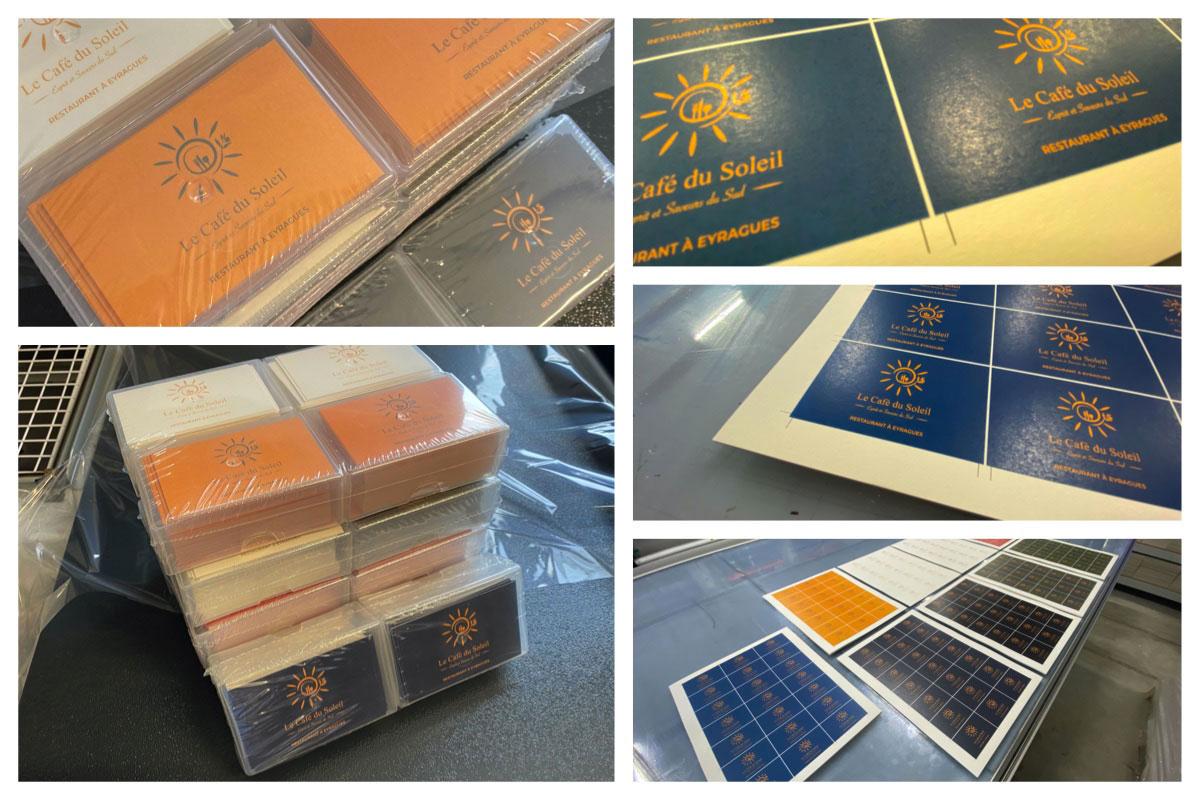 Cartes de visites le Café du Soleil