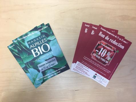 Flyers magasin Alpilles Bio à Saint-Rémy de Provence